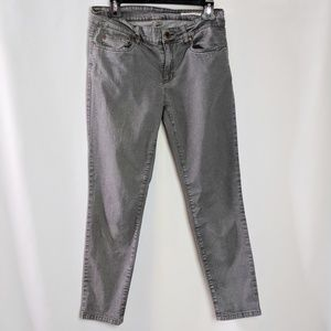 Eileen Fisher Grey Skinny Ankle Jeans EUC Size 6